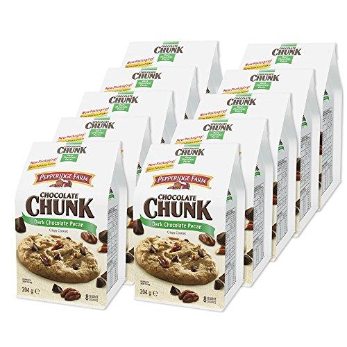 10er SET Pepperidge Farm Dark Chocolate Pecan 204 g American Cookie / Crispy Chocolate Chunk -
