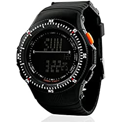 Oumosi Men Green Military Rubber Strap Led Digital-Watch Men Sports Watch Male Hours Table Relogio Masculino