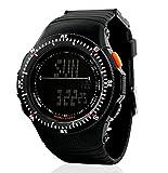 YIJIA digitale a LED militare orologio impermeabile Sport Orologio Uomo e Donna Orologi (Nero) nero
