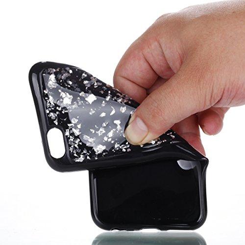 Custodia iPhone 6, iPhone 6S Cover Silicone, SainCat Cover per iPhone 6/6S Custodia Silicone Morbido, Custodia in Silicone 3D Design Shock-Absorption Custodia Ultra Slim Soft TPU Silicone Case Ultra S Argento