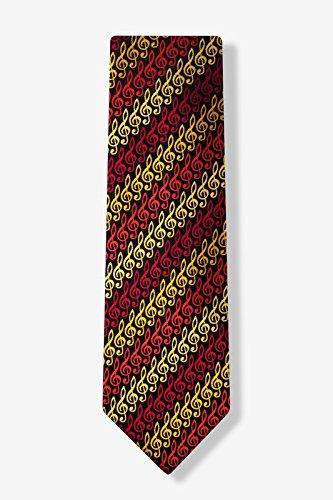 Wild Ties Krawatte aus Mikrofaser mit Notenschlüsseln, Schwarz Tie Krawatte Krawatten