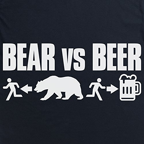 Bear VS Beer T-Shirt, Herren Schwarz