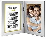 Best Jahrestag, Geburtstag oder Weihnachten Geschenk für Frau, Ehemann, Freundin oder Freund–Soulmate Romantische Liebe Gedicht Plus Ihr süßem Foto in Doppel-Bilderrahmen,