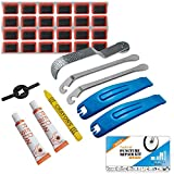 TAGVO Bike Puncture Repair Kit, Bicycle Tyre Repair Patches Levers Rasp Tool for Road Emergency