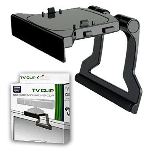 SATKIT Soporte Negro Clip de TV televisor Compatible para Sensor Kinect Xbox 360
