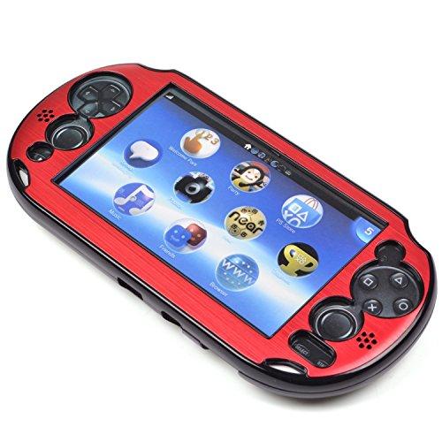szjay® Metall Aluminium Metallic Schutz Hard Case Cover für Playstation PS Vita 2000Slim, Rot -