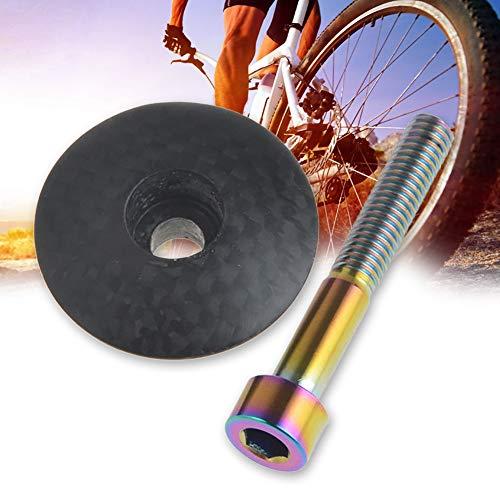 Alsu3luy02Ld - Tapón para Auriculares de Bicicleta de montaña Fibra de Carbono, Perno de aleación...