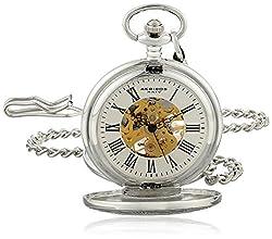 Akribos XXIV AK609SS Bravura Mechanical Pocket Watch