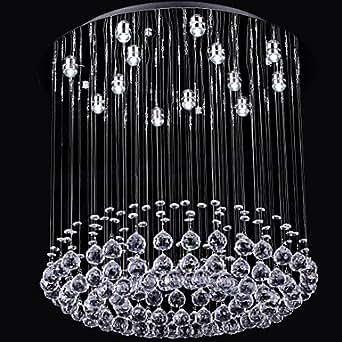 TY Peluche de luxe avec perles en cristal 13 bougies Chandelier en forme ronde, 110–120 V