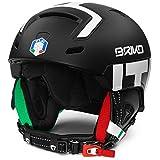 Briko - Helm STROMBOLI - FISI für mann und frau - F11 - MATT BLACK WHITE - 64