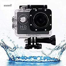 Little Big Planet Imported1080 P full hd Sports Action Camera With Multi Language & Micro Sd Card Slot Action Video Waterproof Camera Up To 30M 2 Inch Lcd Super Wide Angle Works With All Android or IOS Devices ,Sport Camcorder Recorder(black)