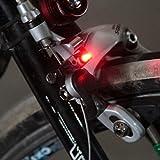 Forfar Advertencia de la mini bicicleta de la cola Accesorios de luces de seguridad con luz de freno LED Para frenos C / V Disco de freno