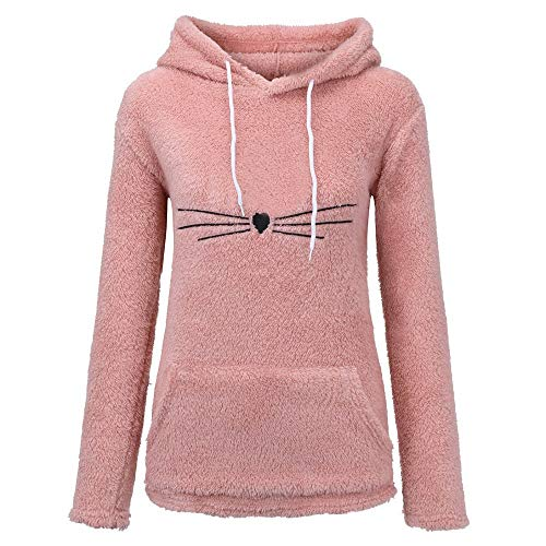 TWIFER Winter Langarm Künstlich Fleece Sweatshirt Warme Bärenform Fuzzy Hoodie Pullover Outwear