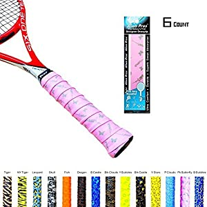 Alien Pros X-Tac Tennis Overgrip Tape perfect for your tennis racket, racquetball grip, squash racquet and more, Set of 6 Review 2018 from Alien Pros