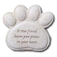 Thorness Dog resin memorial plaque.true friend leaves paw prints on your heart