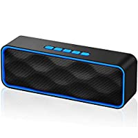 Innoo Tech Bluetooth Speaker, Bluetooth 5.0 Portable Speaker with Stereo Sound and Hi-Fi Bass, 12H Playtime, TF-card Slot, Built-in FM and Mic, Speakers for Phone/Laptops, Speaker Work with Alexa