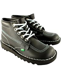 16b822c5ac2d4d Unisex Kids Junior Kickers Kick Hi Back To School Leather Boot Shoes