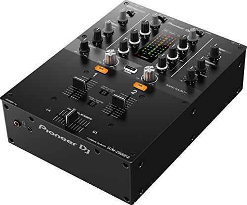 Pioneer DJM-250MK2 2channels 20 - 20000Hz Black audio mixer - audio mixers (2 channels, 20 - 20000 Hz, 94 dB, 48 kHz, 0.005%, 230 mm)