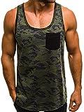 OZONEE Mix Herren Tanktop Tank Top Tankshirt T-Shirt Camouflage Unterhemden Ärmellos Muskelshirt Fitness MAD/2272 DUNKELGRAU L
