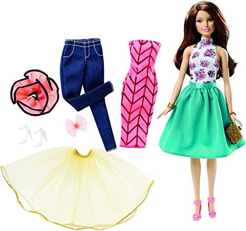 Mattel Barbie DJW59 - Modepuppen, Teresa Puppe und Modeset zum Kombinieren