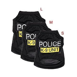 SZTARA Law Enforcement Pet Dog Puppy Vest T-Shirt Policeman Justice Agent Coat Pet Clothes Summer Apparel Cosplay Party… 13