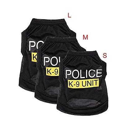 SZTARA Law Enforcement Pet Dog Puppy Vest T-Shirt Policeman Justice Agent Coat Pet Clothes Summer Apparel Cosplay Party… 1