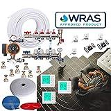 Kit per riscaldamento a pavimento, 3 zone 55-60 mq, 4 porte, tubo da 16 mm, approvato WRAS