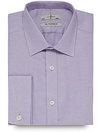 J By Jasper Conran Designer Lilac Heavy Zigzag Tailored Shirt