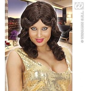 WIDMANN B0743?Mujer de pelo largo peluca Cosmopolitan, talla única adultos en caja, color marrón