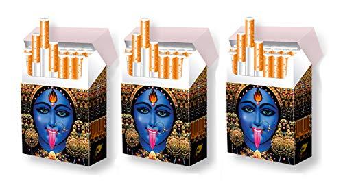 3er Set indo slipp Zigarettenschachtelhülle aus Karton   Größe: Bigpack Oversize   Motiv: 001 Kali