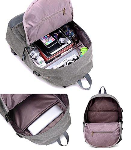 Ghlee Laptop Rucksack 14 Zoll mit USB-Lade-Port Anti-Diebstahl Geschäftsreise Rucksack Checkpoint freundliche Tasche Schulschule Rucksack gepolstert Laptop Khaki Kaffee