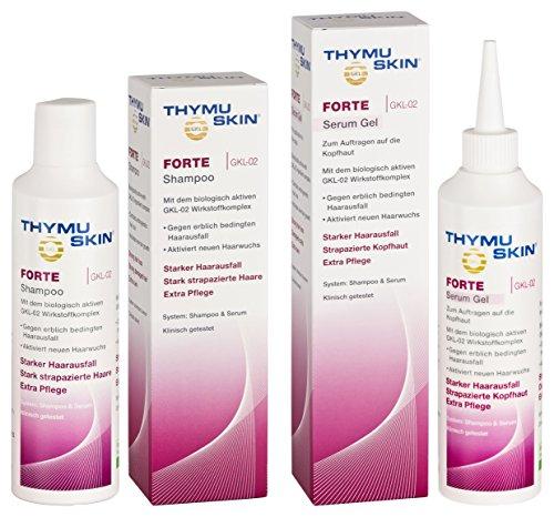 THYMUSKIN Forte Set, 1er Pack (1 x 200 ml Shampoo & 1 x 200ml Serum)