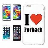 Reifen-Markt Cas de Téléphone Samsung Galaxy S3 Mini I Love Forbach Couverture Rigide Housse de Protection de téléphone Portable Smart Cover pour Smartphone