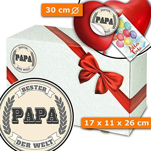 Bester Papa der Welt - Geschenk Korb Idee - Geschenke zum Geburtstag
