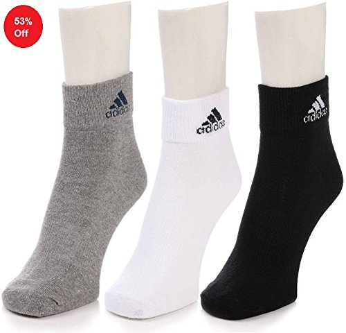 Adidas-Mens-Flat-Knit-Ankle-Socks-Pack-of-3-Size-3942