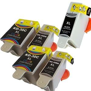 Colour Direct - 3 Black + 2 Colour Compatible Ink Cartridges Replacement For Kodak 30 Black + 30CL Colour For Kodak ESP C110 ESP C310 ESP C315 ESP Office 2150 Office 2170 Hero 3.1 Hero 5.1 ESP1.2 ESP 3.2 ESP 3.2S Printeres