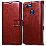 Bracevor Flip Cover for Oppo Realme 2 | Realme C1(2018) | Oppo A5 - Executive Brown | Leather Finish | Foldable Stand…