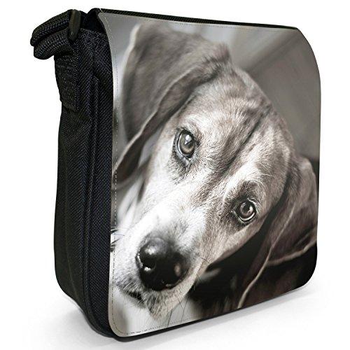 Beagle Piccola Borsa A Tracolla Nera Tela Beagle Carino Nero
