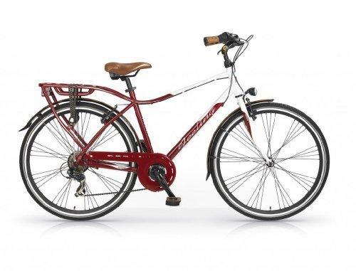 Mbm - Feeling Man Bicyclette Vélo Homme 28'' H54 Trekking City Bike Rouge/Noir