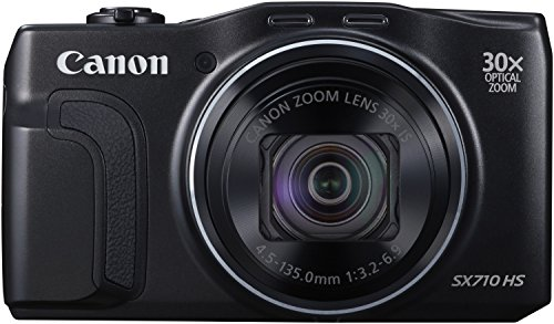Canon PowerShot SX710 HS Digitalkamera (20,3 Megapixel CMOS, 30-fach opt. Zoom, 60-fach ZoomPlus, 7,5 cm (3 Zoll) Display, opt. Bildstabilisator, Full HD Movie 60p, WLAN, NFC) schwarz
