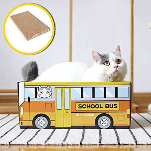 Yaohxu Katzenhaus Katzenbett Cat Scratch Corrugated Paper Carton Box Verschleißfest Karton - 37x25x16cm