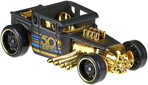 (HotWheels 50th Anniversary Black & Gold FRN34 – Bone Shaker 1/6)