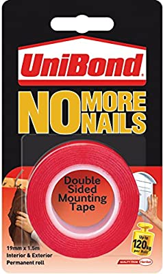UniBond No More Nails Permanent Roll - 19 mm x 1.5 m : everything five pounds (or less!)