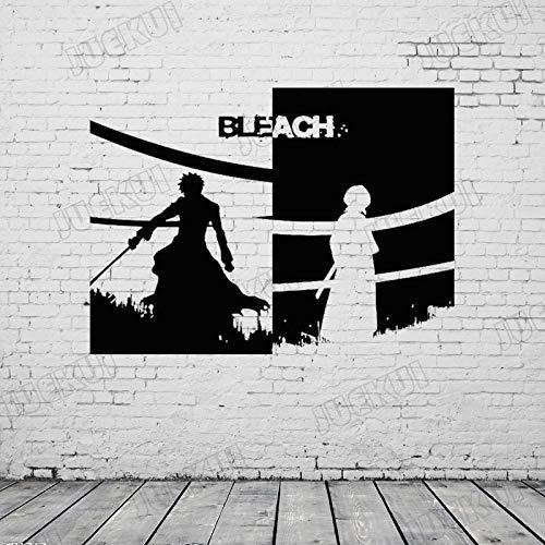 jiushizq Bleach Cartoon Charaktere Entfernbare Wandaufkleber Für Jungen Schlafzimmer Kunst Decor Vinyl Wandtattoos Wohnzimmer Hobby Aufkleber Weiß 57X42 cm