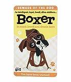 Boxer Hund Fun Cartoon Metall Schild + Gratis Auto-Lufterfrischer. Made to Make You Smile