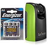 Energizer Batterie Lithium Mignon AA (1,5Volt 4er-Packung) + Brinno BCC100 Zeitraffer Baustellen kamera - Für Sicherheit im Baustllen und im Freien 80 TAGE Batterielebensdauer, 720p HD, Wetterfestes Gehäuse Batterien im Lieferumfang enthalten