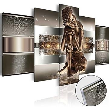 murando Cuadro de cristal acrílico 200x100 cm 5 Partes - 2 tamanos opcionales - Cuadro de acrílico TOP Cuadro - Impresion en calidad fotografica – Buda h-C-0034-k-m 200x100 cm 3