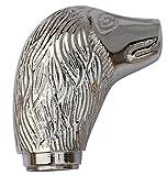 Appliances Men Best Deals - SouvNear Walking Cane Handle - for Men & Women - Handmade Metal Spaniel Head Shape Walking Stick Handle in Silver Colour - Decorative Handles for Wooden Canes - Fashion Accessories