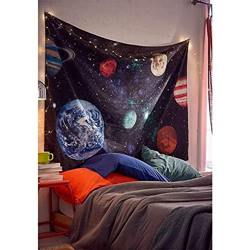 Lomohoo Psychedelische Konstellation Galaxy Space Pattern Wandbehang Hippie Wandteppich für Schlafzimmer Dekor nach Hause im Freien Decke (L/148*cm*200CM)
