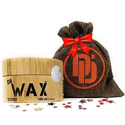 DaDude Da Wax Cera Capelli Uomo Opaca Extra Forte Cera per Capelli Uomo Professionale una scatola di legno di alta qualità e confezione regalo 100 ml